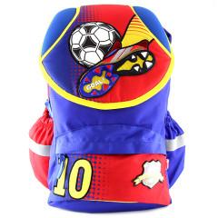 Školní batoh Goal - 3D kopačka a míč - modro-červený