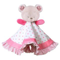 Plyšový usínáček růžový medvídek BabyOno