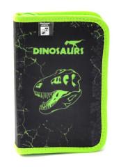 Penál 1patrový 2 chlopně Premium Dinosaurus NEW 2017