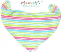 Dětský šátek na krk Mamatti - barevné proužky