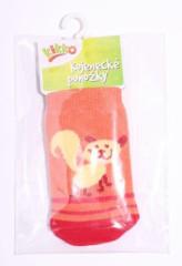 Kojenecké ponožky bavlna KIKKO 0 - 6 m KOČIČKA typ 6