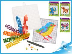 Mozaikové puzzle 4druhy v krabičce