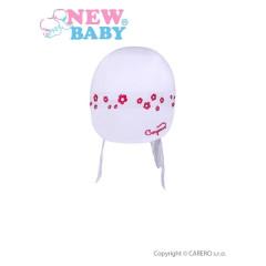 Letní dětská čepička- šátek New Baby Gorgeous vel. 86 BÍLÁ