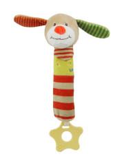 Dětská pískací plyšová hračka s kousátkem Baby Mix pejsek