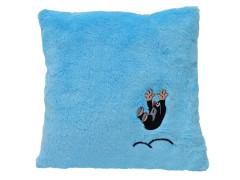 Krtek polštář s výšivkou modrý krtek hop