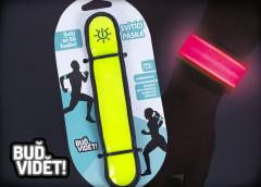 Nastavitelný stahovací pásek svítící a blikající