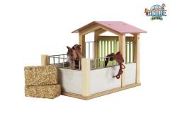Stáj pro koně dřevěná 72 5x60x37 5cm KIDS 1:24