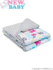 Dětská deka z Minky New Baby bílo-šedá 80x102 cm
