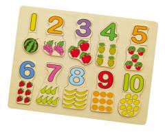 Vkládačka čísla a ovoce