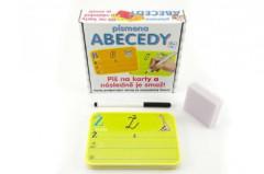 Písmena abecedy Piš na smazatelné karty + fix v krabici
