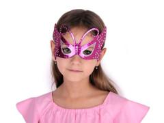 Karnevalová maska - motýl s glitry