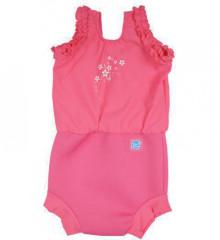Plavky Happy Nappy kostýmek - Růžové květy vel. L (10-15kg) 2. JAKOST