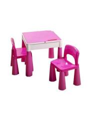 Dětská sada stoleček a dvě židličky růžová
