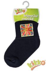 Kojenecké ponožky bavlna KIKKO 0 - 6 měs TM. MODRÉ typ 50