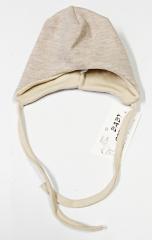 Zimní čepička svetřík norský vzor béžová Baby Service