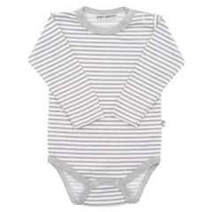 Body dlouhý rukáv Retrotisk Šedo-bílé pruhy Baby Service