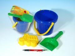 Sada na písek - kbelík, lopatka, bábovka
