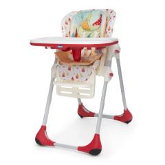 Chicco Jídelní židle Polly 2 v 1 timeless červená