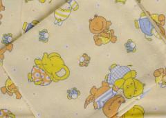 Dětské povlečení 2dílné flanelové žlutý hroch 130 x 90 cm