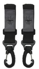 Háčky k uchycení tašky ke kočárku Casual Stroller Hooks black