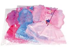Křídla víla karneval se sukní, čelenkou a hůlkou 3 barvy