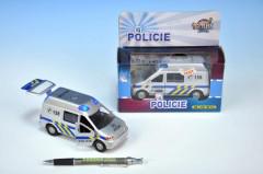 Policejní auto se zvukem a světlem, na setrvačník 14 cm