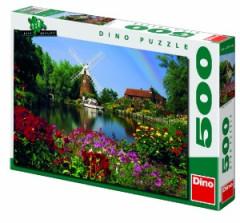 Puzzle Mlýn u jezírka 47x33cm 500 dílků