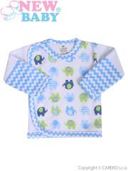 Kojenecká košilka New Baby Sloník bílo-modrá vel. 62