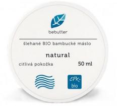 Bebutter Šlehané BIO bambucké máslo natural 50ml
