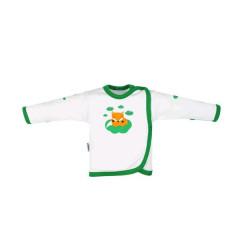 Kojenecká bavlněná košilka New Baby Liška zelená