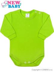 Kojenecké body s dlouhým rukávem New Baby neonové zelené