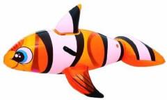 Lehátko Ryba klaun nafukovací s úchyty 147x94cm