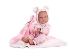 Panenka Llorens - New born holčička 38 cm s kuklou