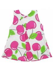 Dětské letní šatičky bez rukávů Koala Cherry bílo-růžové vel. 80