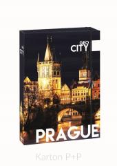 Box na sešity A4 Jumbo GEO CITY Prague