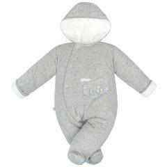 Zimní kombinéza zateplená Melírek šedá welsoft Baby Service