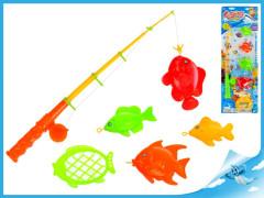 Hra rybář - rybářský prut 41cm+ rybičky