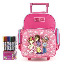 Školní batoh Cool trolley set - Fox Co. - růžový