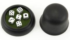 Hrací kostky 6ks 10x10mm s kelímkem