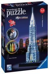 Puzzle Chrysler building (Noční edice) 216 dílků