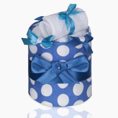 Plenkový dort malý T-tomi, modré kolečka