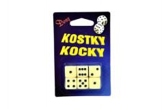 Hrací kostky společenská hra 1,6cm 6ks na kartě