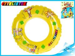 Kruh nafukovací Čtyřlístek transparentní 50cm