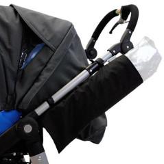 Universální obal na pláštěnku pro dětské kočárky malý černý