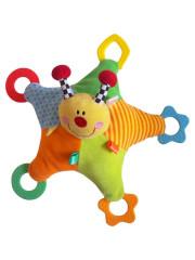 Plyšová hračka s chrastítkem a kousátky Baby Mix