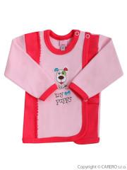 Kojenecká košilka Bobas My puppy koralová vel. 56
