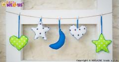 Sada dekorací Stars be Love Modrá + zelená