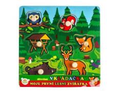 Vkládačka Moje první zvířátka - lesní zvířátka 6ks