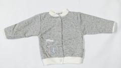 Teplejší kabátek melírek šedý Baby Service