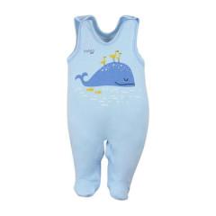 Kojenecké bavlněné dupačky Koala Happy Baby modré